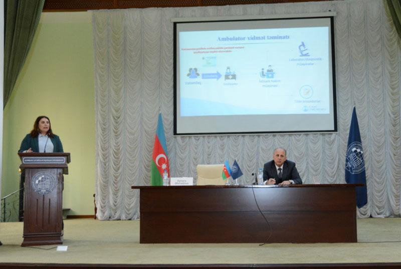 UNEC-də icbari tibbi sığorta ilə bağlı təqdimat olub